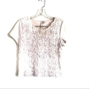 🍍3 for $25 LC Lauren Conrad Floral Ruffle Tee